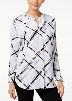 Alfani Prima Printed Dolman-Sleeve Blouse, Only at Macy's