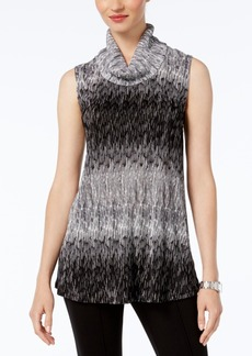 Alfani Petite Printed Cowl-Neck Top, Created for Macy's