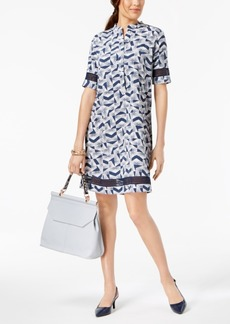 Alfani Crochet Trim Shirtdress, Created for Macy's