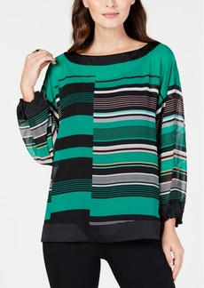 Alfani Striped Boat-Neck Top, Created for Macy's