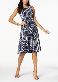 Alfani Pleated Fit & Flare Midi Dress, Created for Macy's
