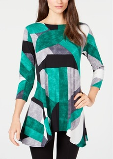 Alfani Petite Printed High-Low Tunic, Created for Macy's