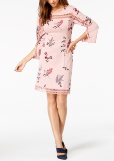 Alfani Petite Illusion-Lace Shift Dress, Created for Macy's