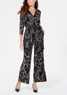 Alfani Petite Printed Jumpsuit, Created for Macy's