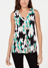 Alfani Colorblocked V-Neck Top, Created for Macy's