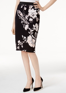 Alfani Petite Printed Pencil Skirt, Only at Macy's