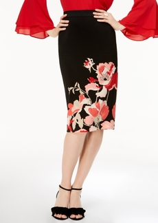Alfani Petite Printed Scuba Midi Skirt, Created for Macy's