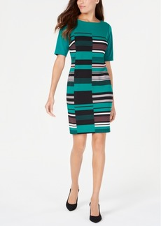 Alfani Petite Printed Sheath Dress, Created for Macy's