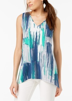 Alfani Petite Printed Sleeveless Swing Top, Created for Macy's