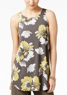 Alfani Petite Printed Swing Top, Created for Macy's