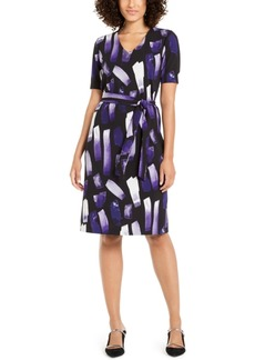 Alfani Petite Printed Tie-Waist Dress, Created For Macy's