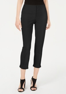 Alfani Petite Ruffle-Hem Ankle Pants, Created for Macy's
