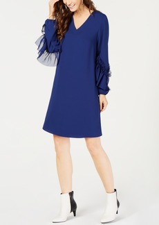 Alfani Petite Ruffle-Sleeve Shift Dress, Created for Macy's