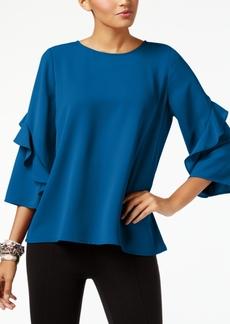 Alfani Petite Ruffle-Sleeve Top, Created for Macy's