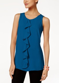 Alfani Petite Ruffle Top, Created for Macy's