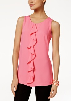 Alfani Petite Ruffle Top, Only At Macy's