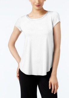 Alfani Petite Satin-Trim High-Low T-Shirt, Only at Macy's