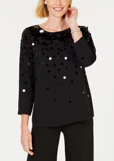 Alfani Sequined Top, Created for Macy's