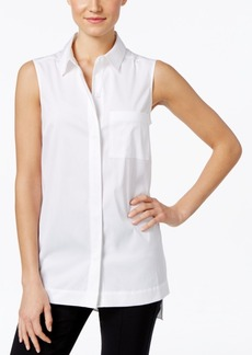 Alfani Petite Sleeveless Shirt, Only at Macy's