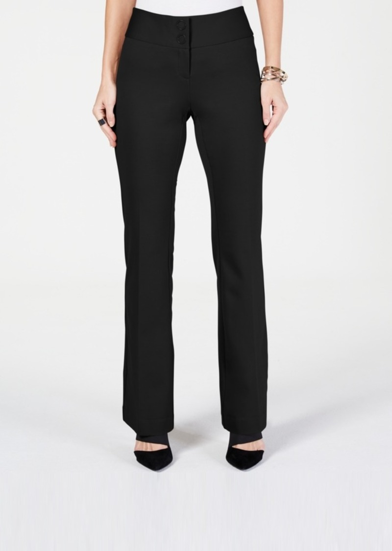 Alfani Petite Snap-Waist Trousers, Created for Macy's
