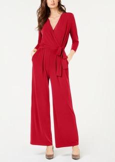 Alfani Petite Solid 3/4 Sleeve Jumpsuit, Created for Macy's