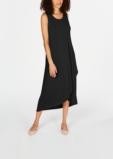 Alfani Petite Solid Tulip-Hem Dress, Created for Macy's