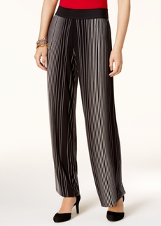 Alfani Petite Striped Palazzo Pants, Created for Macy's