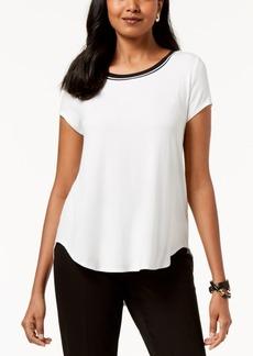 8b295828 Alfani Alfani Satin-Trim High-Low T-Shirt, Created for Macy's ...