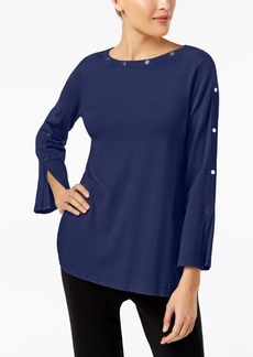 Alfani Petite Studded Long-Sleeve Sweater, Created for Macy's