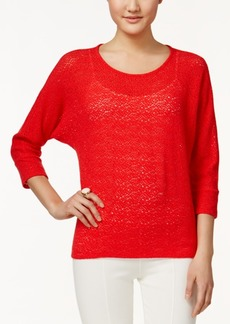 Alfani Petite Textured Dolman-Sleeve Top, Only at Macy's