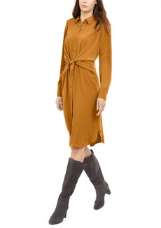 Alfani Petite Tie-Front Shirt Dress, Created for Macy's