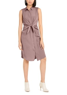 Alfani Petite Tie-Front Shirtdress, Created For Macy's