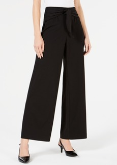 Alfani Petite Tie-Waist Wide-Leg Pants, Created for Macy's