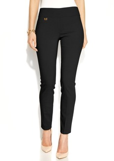 Alfani Petite Tummy-Control Pull-On Skinny Pants, Only at Macy's