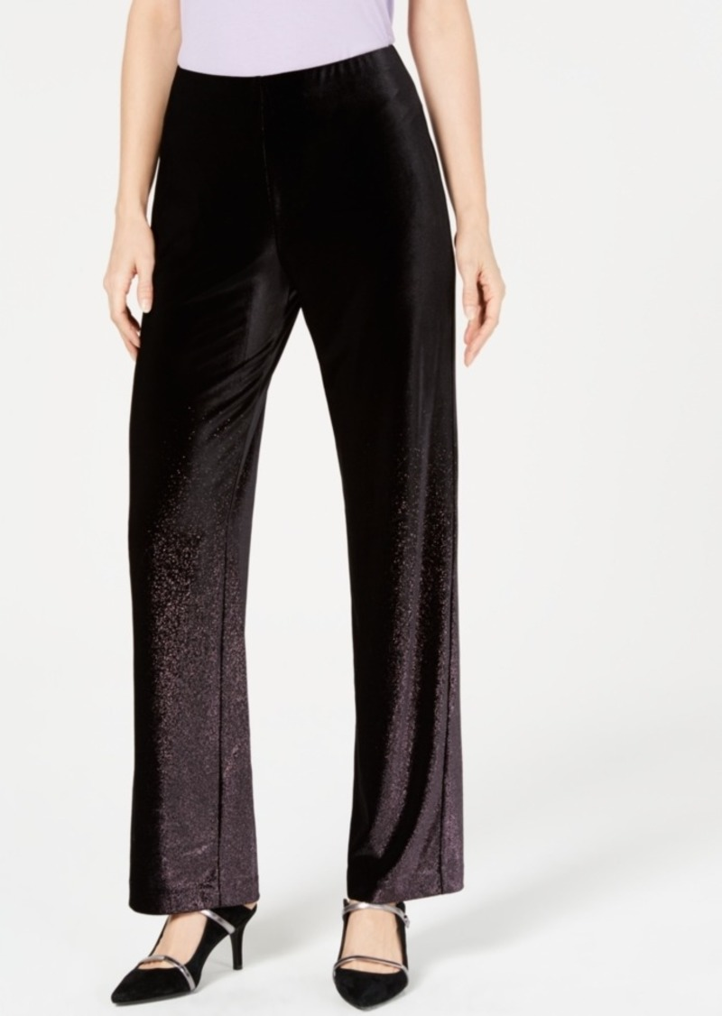 Alfani Velvet Pull-On Pants, Created for Macy's