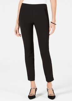 Alfani Petite Velvet-Stripe Skinny Pants, Created for Macy's