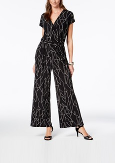 Alfani Petite Wide-Leg Jumpsuit, Created for Macy's