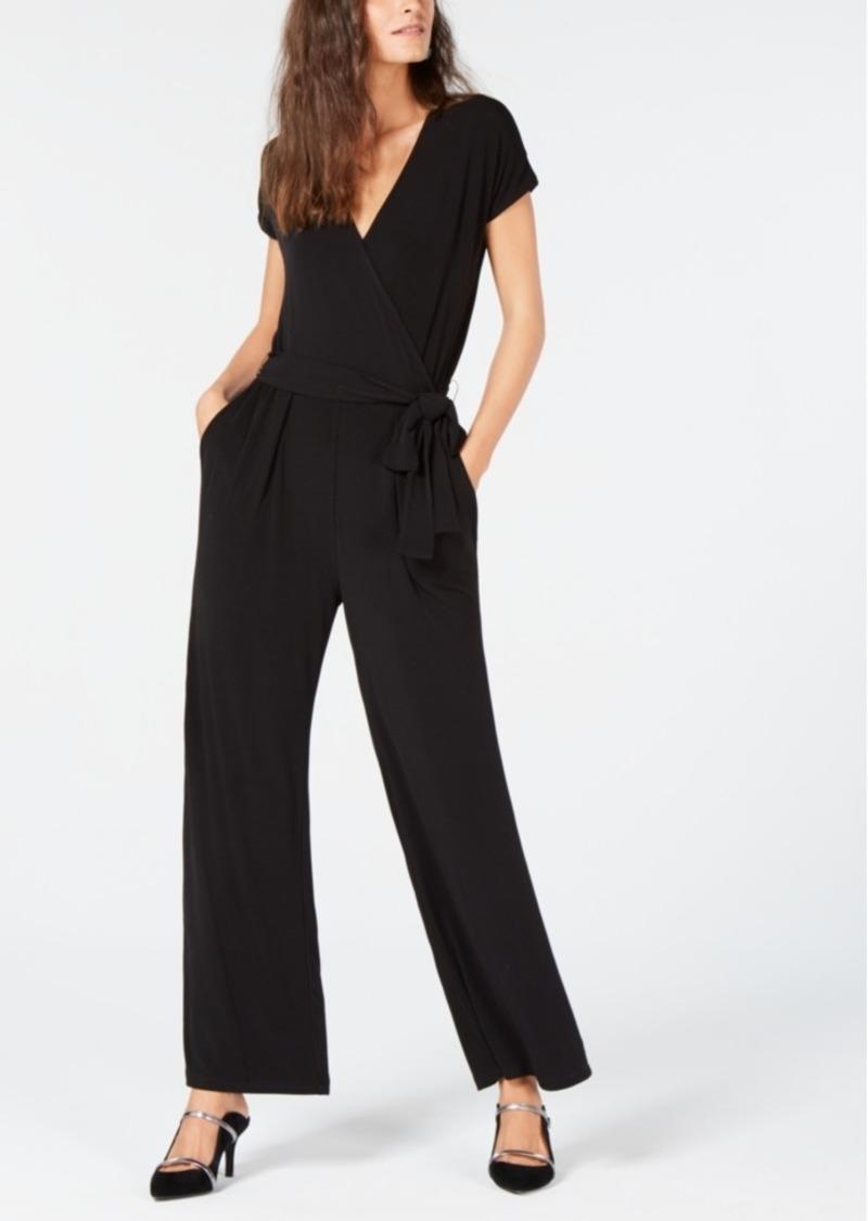 Alfani Petite Wide-Leg Jumpsuit, Created for Macy's