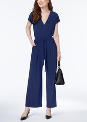 Alfani Solid Wide-Leg Jumpsuit, Created for Macy's