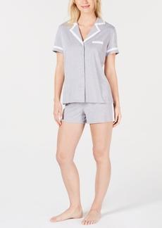 Alfani Pima Cotton Short Sleeve Top & Pajama Shorts Set, Created for Macy's