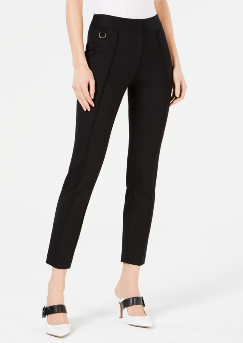 Alfani Pintuck Comfort-Waist Skinny Pants, Created for Macy's