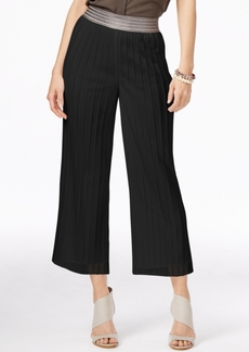Alfani Petite Metallic-Waistband Culottes, Only at Macy's
