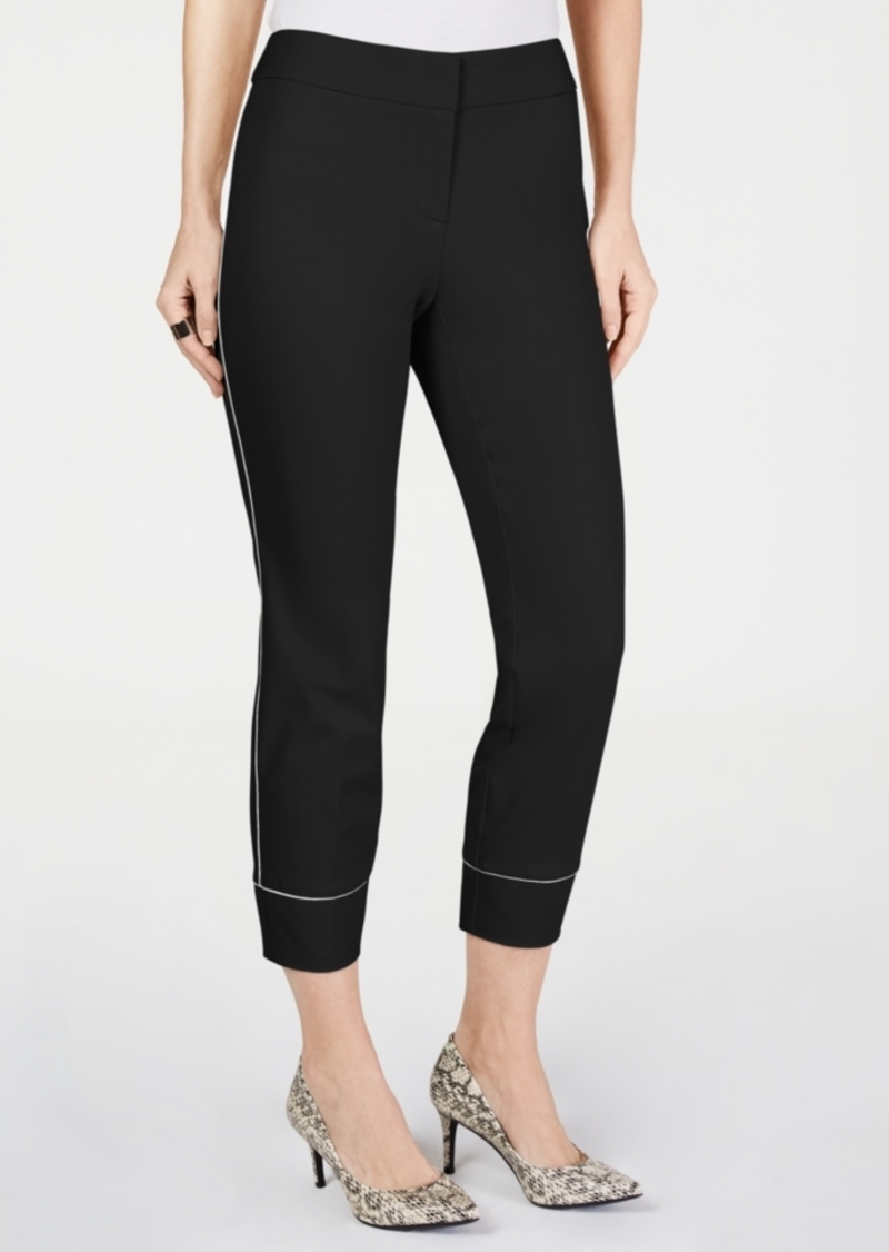 Alfani Piped Slim Ankle Pants, Created for Macy's