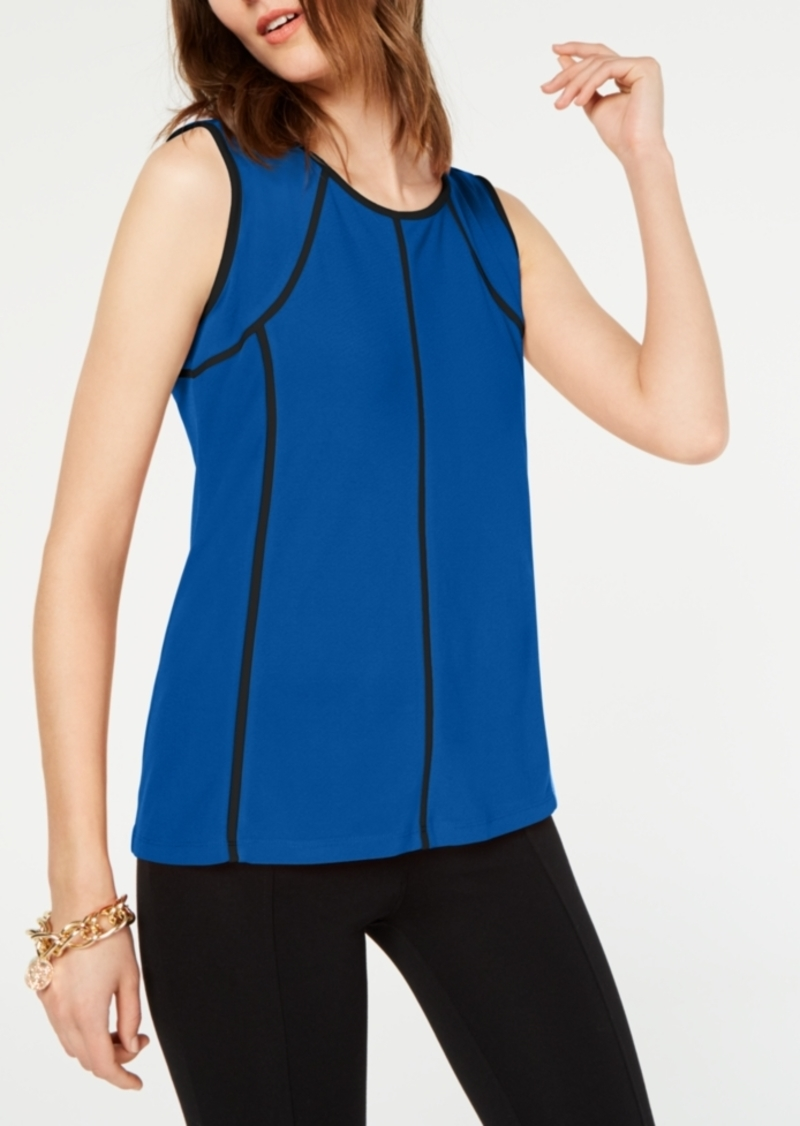 Alfani Piped-Trim Top, Created for Macy's