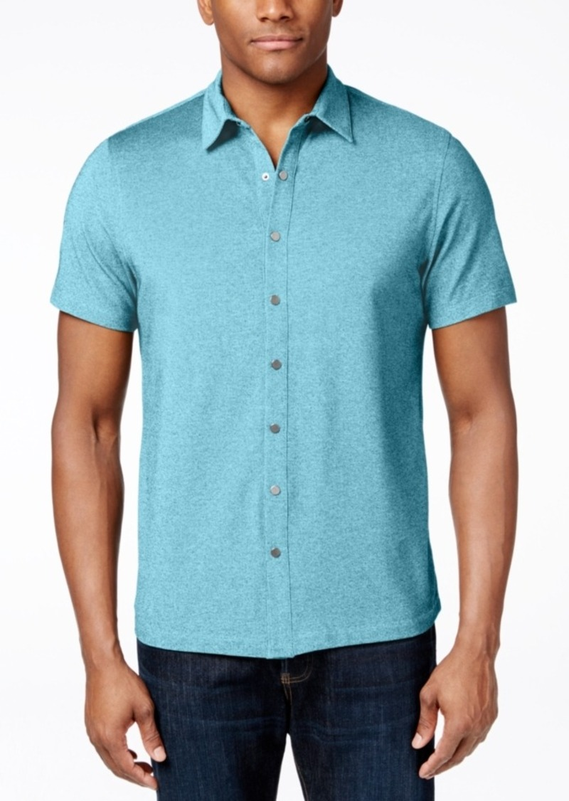 Alfani Pique Short-Sleeve Shirt, Only at Macy's
