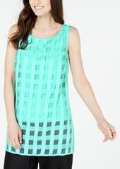 Alfani Plaid Illusion Tunic, Created for Macy's