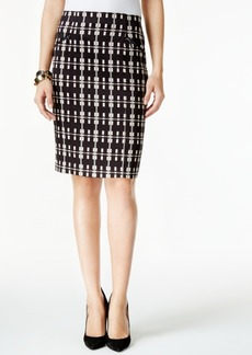 Alfani Plaid Pencil Skirt, Only at Macy's