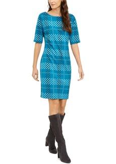 Alfani Plaid Sheath Dress, Created for Macy's