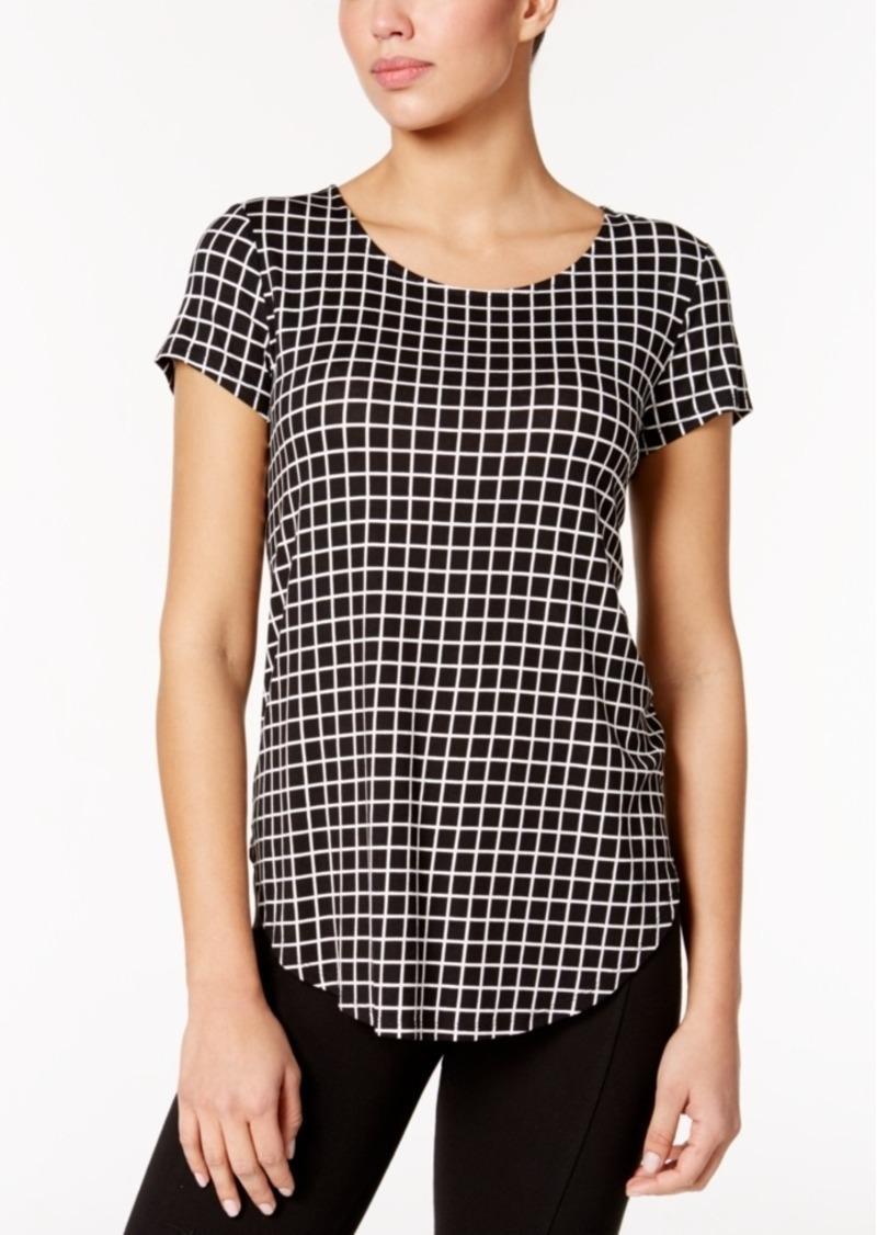 Alfani Plaid T-Shirt, Only at Macy's