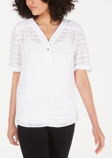 Alfani Plaid Top, Created for Macy's